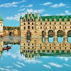 Пазл онлайн: Chenonceau (The Chateaux) / Замок Шенонсо