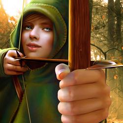 Пазл онлайн: Леди Робин Гуд