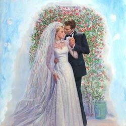 Пазл онлайн: Свадебная пара