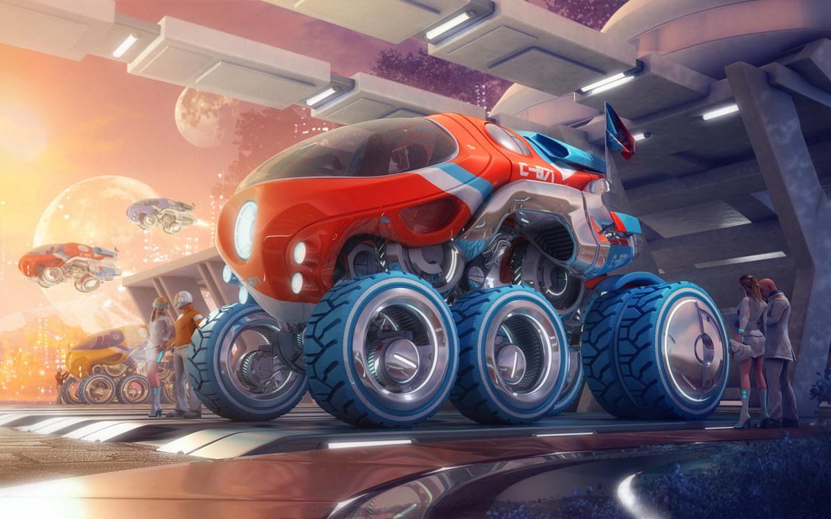 Картинки фантастический машины