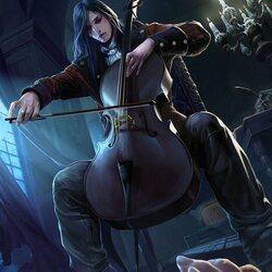 Пазл онлайн: Темный музыкант