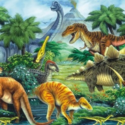 Пазл онлайн: Динозавры