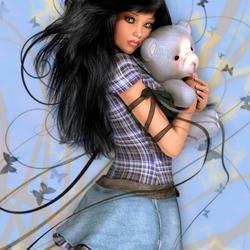 Пазл онлайн: Мишка