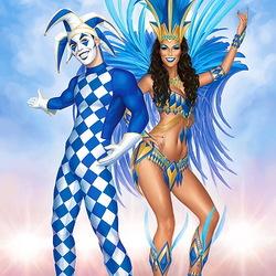 Пазл онлайн: Карнавал в Рио