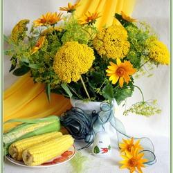 Пазл онлайн: Натюрморт в жёлтом цвете