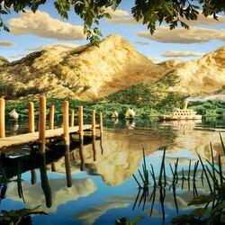 Пазл онлайн: Пароход на реке