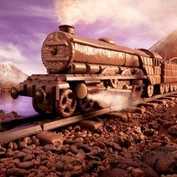 Пазл онлайн: Шоколадный поезд