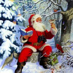 Пазл онлайн: Санта в лесу
