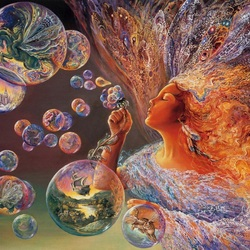 Пазл онлайн: Цветочные пузыри