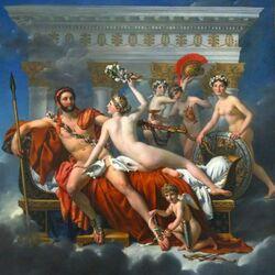 Пазл онлайн: Венера и три грации, обманывающие Марса