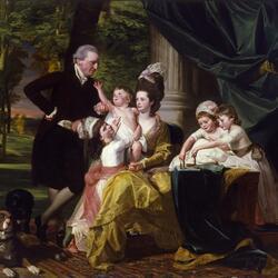 Пазл онлайн: Сэр Уильям Пепперелл и его семья