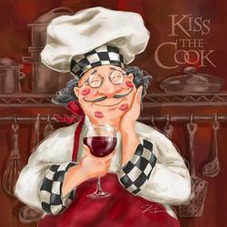 Пазл онлайн: Поцелуйте повара!