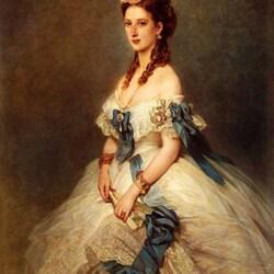 Пазл онлайн: Александра Датская, принцесса Уэльская, впоследствии королева Англии