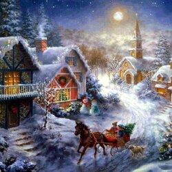 Пазл онлайн: Ёлочка к Рождеству