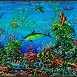 Пазл онлайн: Сад осьминога