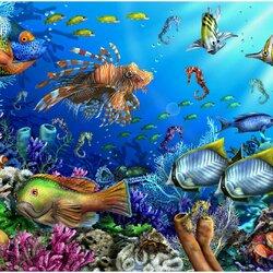 Пазл онлайн: На глубине моря