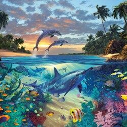 Пазл онлайн: Коралловый залив