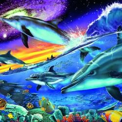 Пазл онлайн: Игры дельфинов
