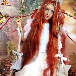Пазл онлайн: Девушка - весна
