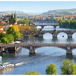 Пазл онлайн: Мосты через Влтаву