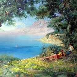 Пазл онлайн: Крымский берег