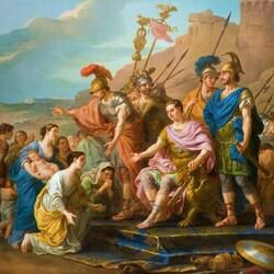 Пазл онлайн: Семья уговаривает Кориолана не осаждать Рим