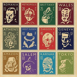 Пазл онлайн: Монстро-марки
