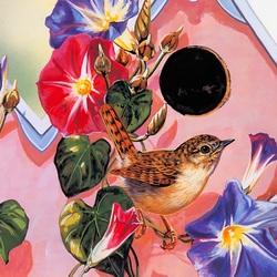 Пазл онлайн: Певчая птичка