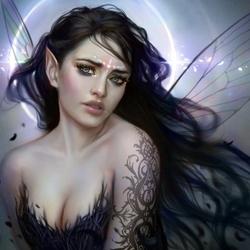 Пазл онлайн: Темная фея