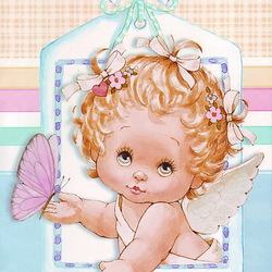 Пазл онлайн: Милый ангелок