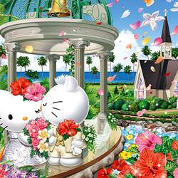 Пазл онлайн: Свадьба Китти