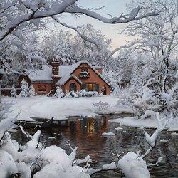 Пазл онлайн: Зимняя страна чудес