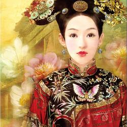 Пазл онлайн: Портрет китаянки