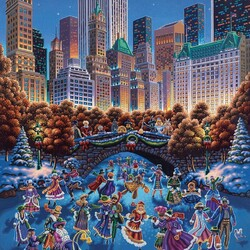 Пазл онлайн: Новогодний праздник в Центральном парке