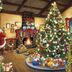 Пазл онлайн: Подарки от Санты