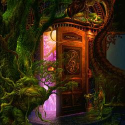 Пазл онлайн: Дверь в волшебный мир