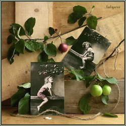 Пазл онлайн: Девочка с яблоней