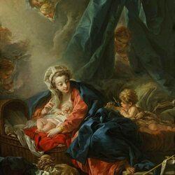 Пазл онлайн: Мадонна с младенцем и юным Иоанном Крестителем