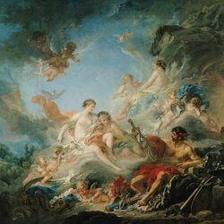 Пазл онлайн: Вулкан, вручающий Венере оружие для Энея