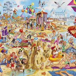 Пазл онлайн: Пляжные развлечения