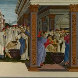 Пазл онлайн: Крещение святого Зиновия и его посвящение в сан епископа