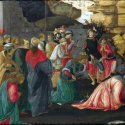 Пазл онлайн: Поклонение волхвов