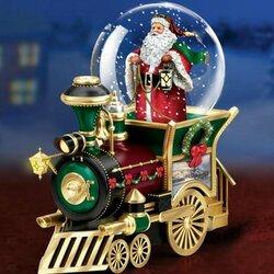 Пазл онлайн: Поезд Санта Клауса