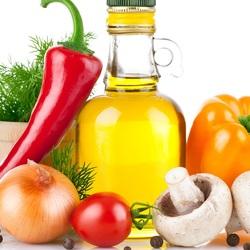 Пазл онлайн: Масло, овощи и грибы
