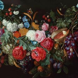 Пазл онлайн: A Swag of Flowers / Цветочная гирлянда