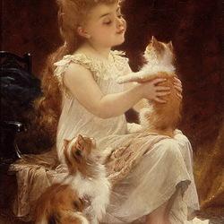 Пазл онлайн: Игра с котенком