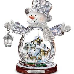 Пазл онлайн: Снежное Рождество