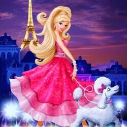 Пазл онлайн: Барби в Париже