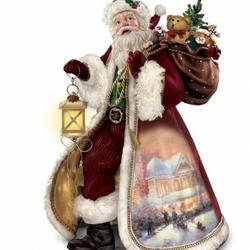 Пазл онлайн: Санта несет подарки
