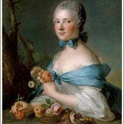 Пазл онлайн: Портрет маркизы Перрен де Сипье
